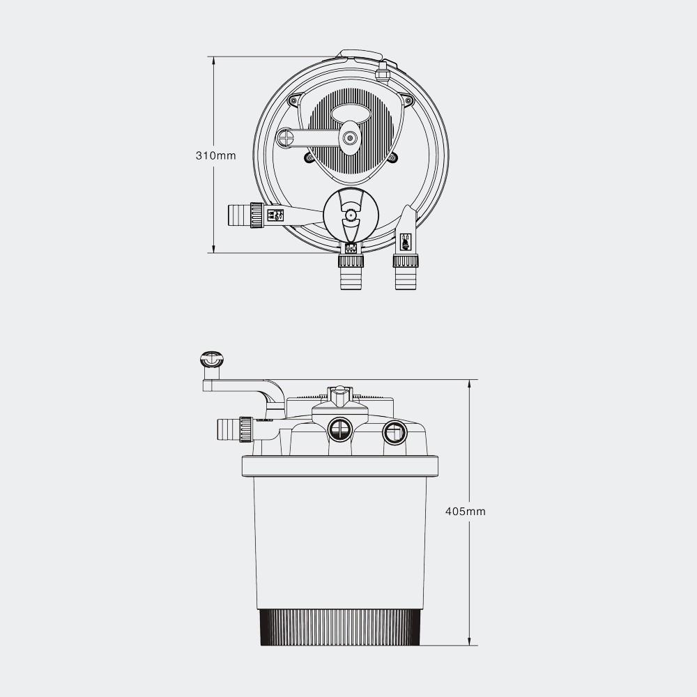 SunSun CPF-250 Pressurized Bio Pond Filter, UV 11W, 2641gph Gallery