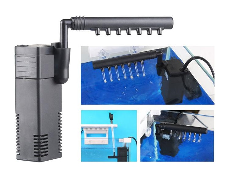 SunSun ATK-200D 2.5gal Nano Fish Tank w/ 3.5W LED Light & Internal Filter Gallery