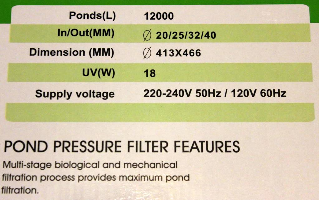 Jebao BCF-12000 18W UV Pressurized Pond Filter w/ Back Flush, 3170gal Gallery