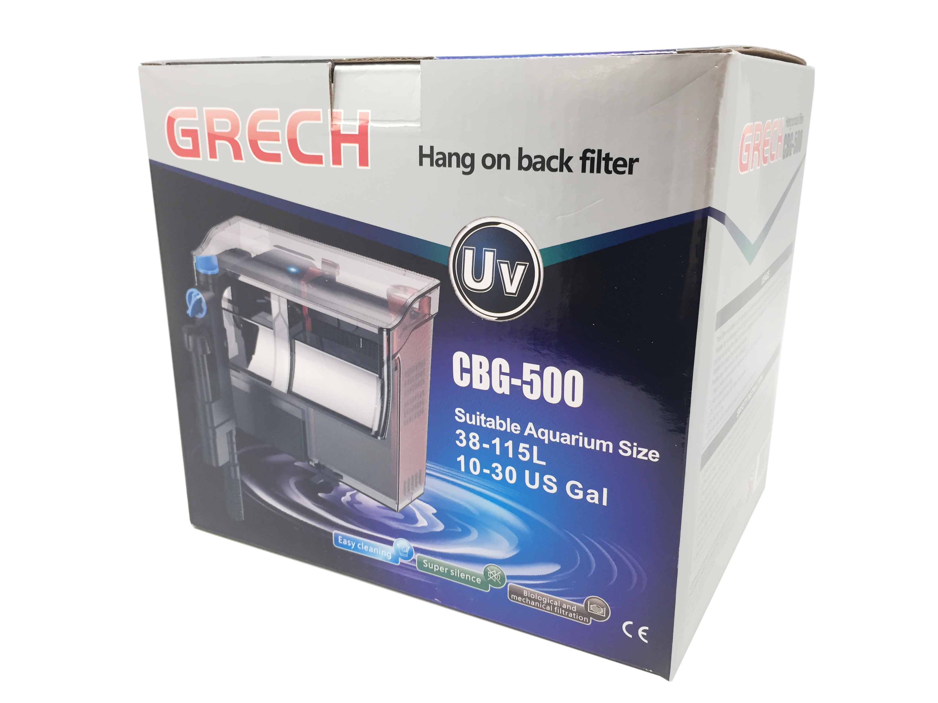 Grech/SunSun CBG-500 5W UV Sterilizer Hang-On Back Filter For 10-30gal, 132gph Gallery