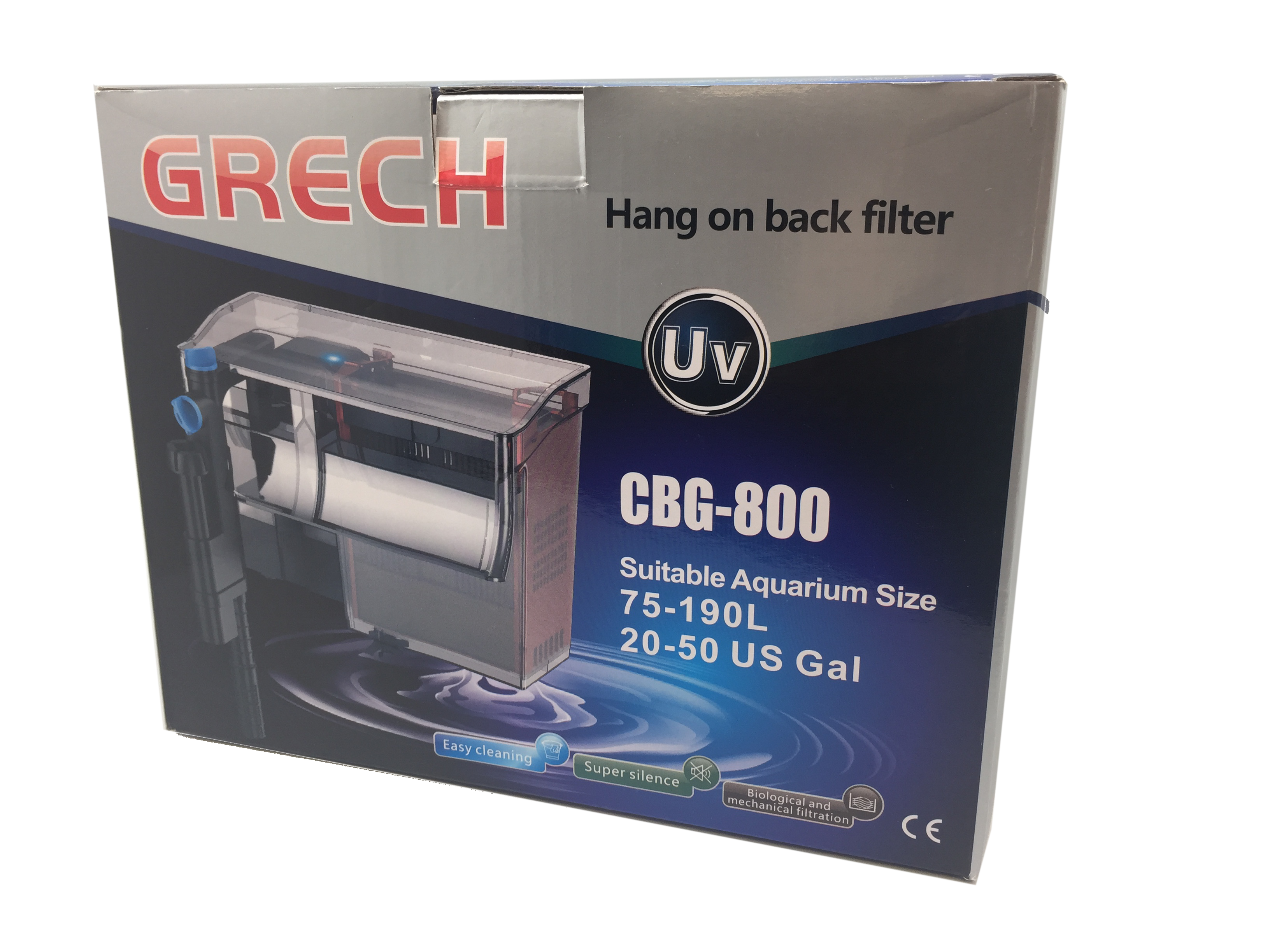 Grech/SunSun CBG-800 5W UV Sterilizer Hang-On Back Filter For 20-50gal, 211gph Gallery
