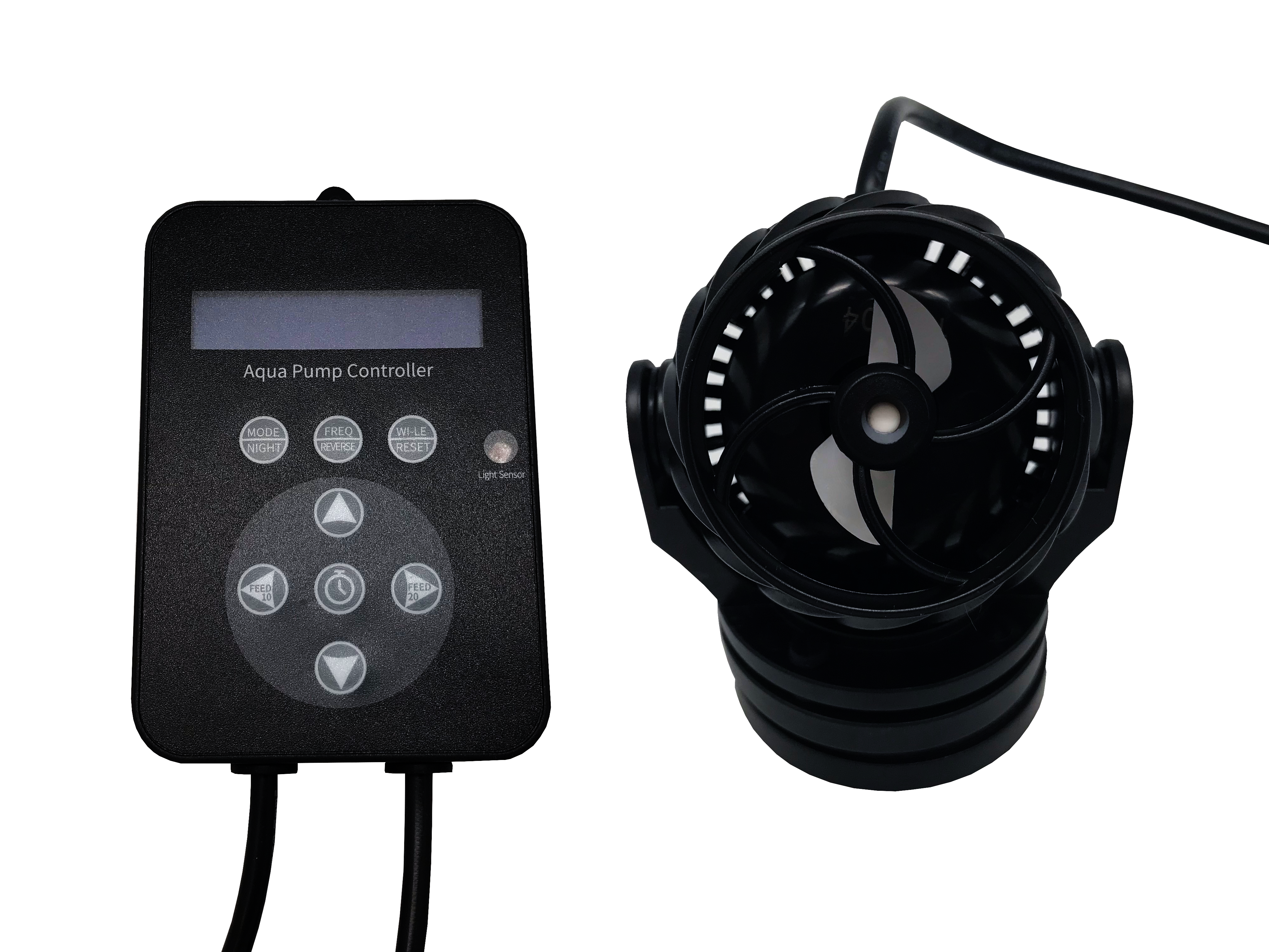 H2Pro QP-9 Pro Wavemaker w/ LED Display, Controller, and Magnet Mount – 2378gph Gallery