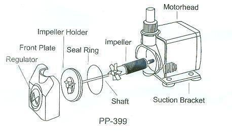 Jebao WP-1200 20W Mini Submersible Pump, 317gph Gallery