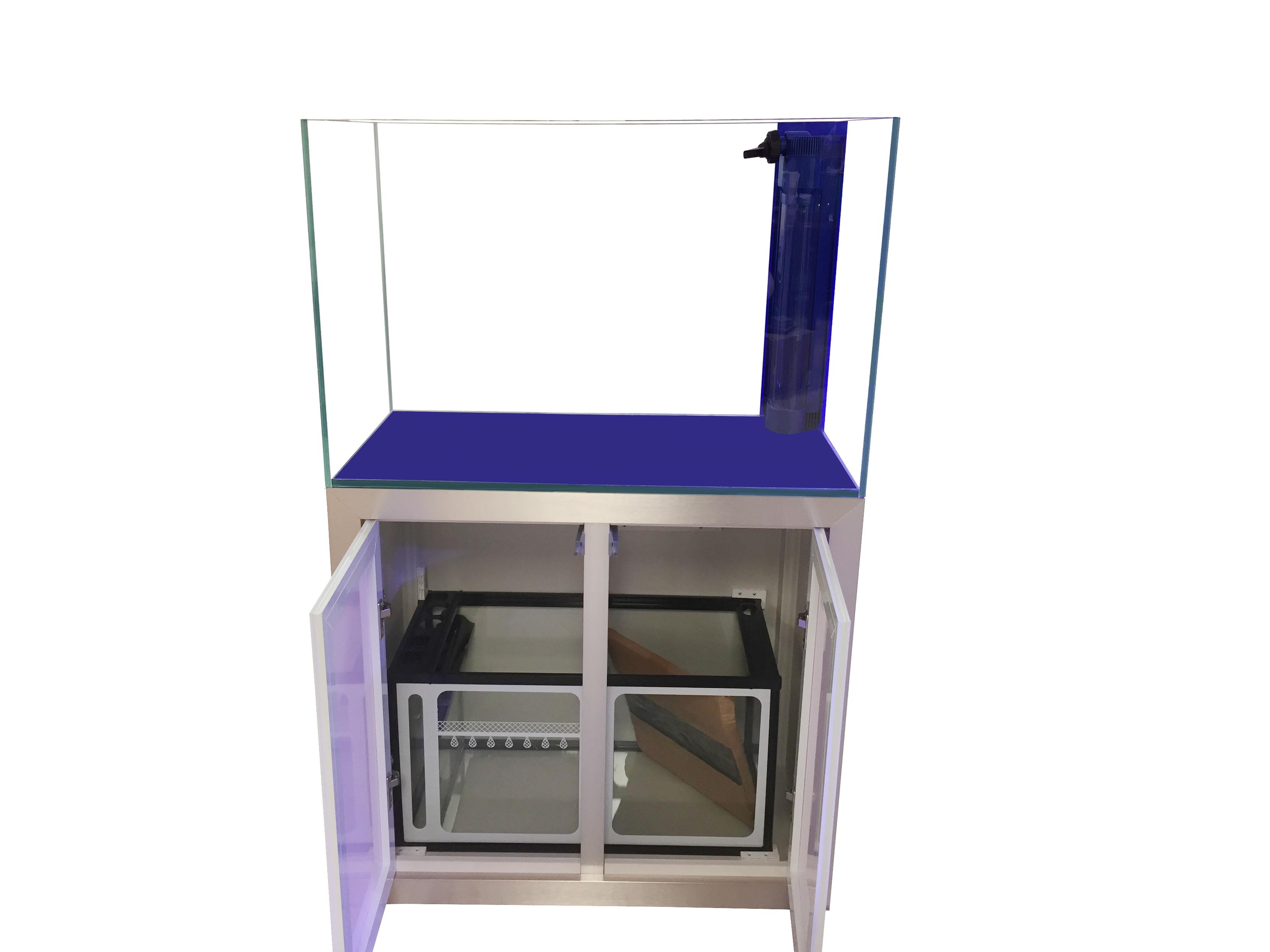SunSun HCA-800D 44 Gallon Rimless Glass Tank Set w/ Overflow, Sump, & Cabinet Gallery