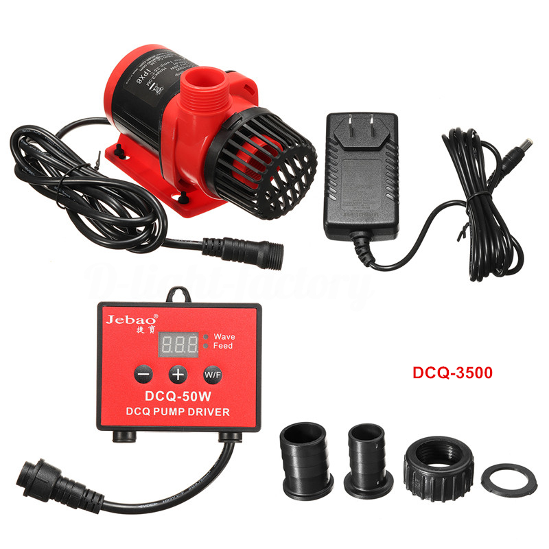 Jebao DCQ-3500 28W Submersible Pump w/ Controller, 924gph Gallery