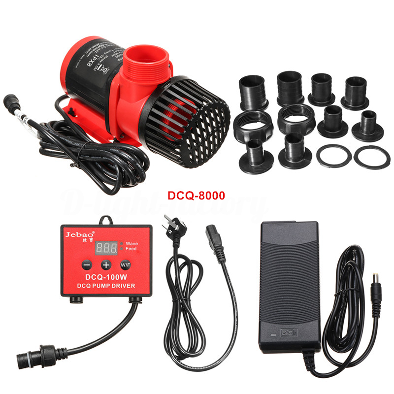 Jebao DCQ-8000 65W Submersible Pump w/ Controller, 2113gph Gallery
