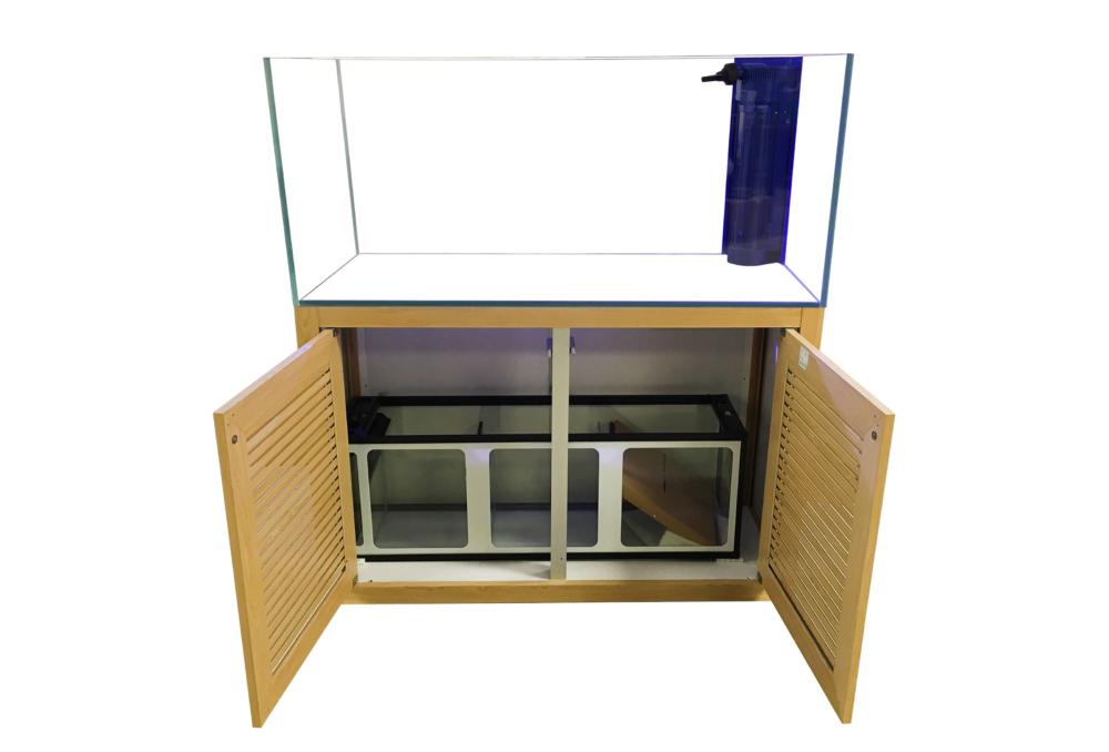 SunSun HFC-1200IDL 70 Gallon Rimless Glass Tank w/ Overflow, Sump, & Cabinet (Wooden) Gallery